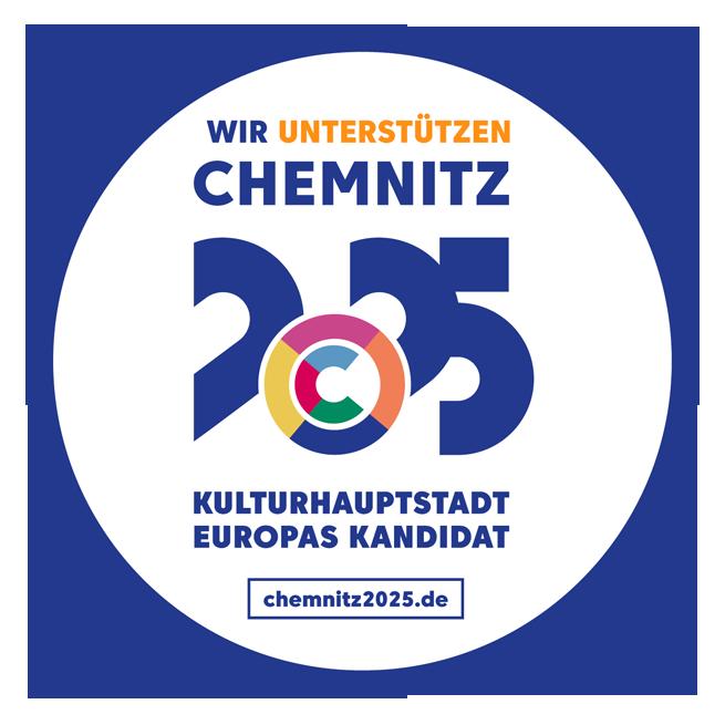 Wir unterstützen Chemnitz 2025 als Kandidat zur Kulturhaupstadt Europas